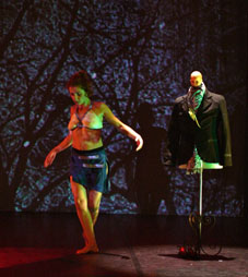 Représentation de la pièce chorégraphique Hic & Nunc